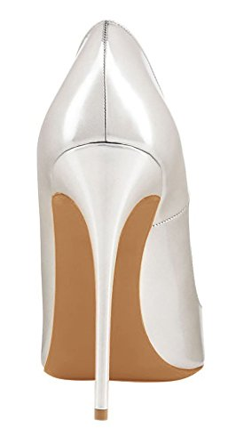Arc-en-Ciel zapatos de mujer en punta zapato de tacón alto Silver