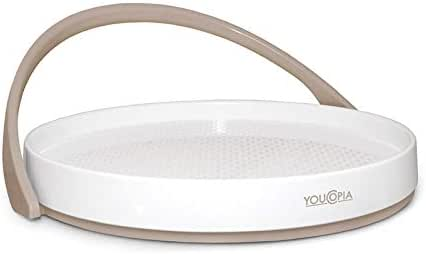 YouCopia - Crazy Susan 11-Inch Turntable With Backstop - White - YCA-08001-01-WHT