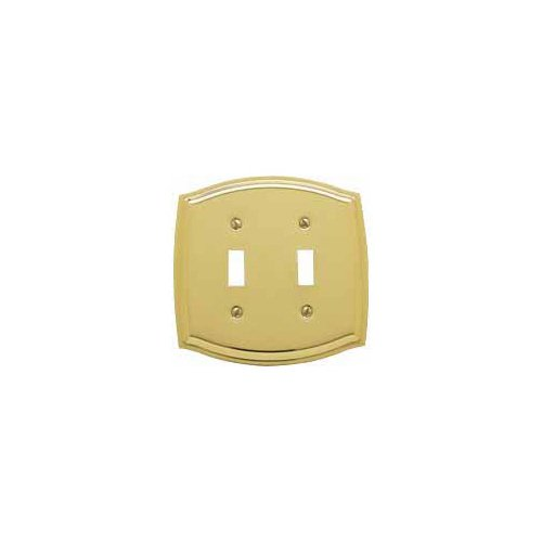Polished Toggle (Baldwin 4766.030.CD Colonial Design Double Toggle Switch Plate, Polished Brass - Lacquered)