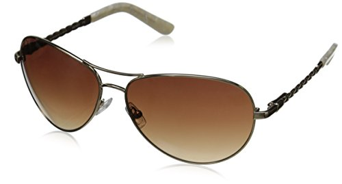 Oscar by Oscar De La Renta Women's SSC4031 Aviator Sunglasses, Gold, 60 - Sunglasses De Renta Oscar