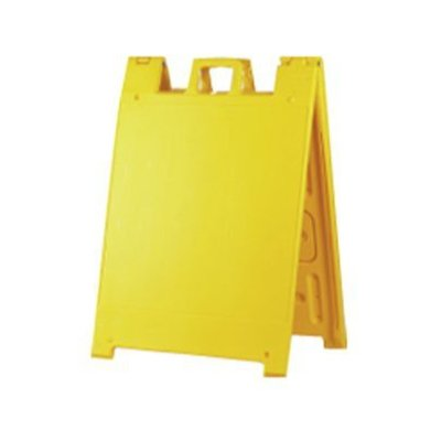 Squarecade 36 A-frame Portable Sign Stand, Color=Yellow