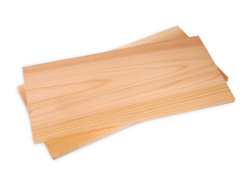 80 Pack - Cedar Grilling Planks Size 11.75 x 5.5 x 3/8 Inches by Steve's Gift Shoppe Western Red Cedar