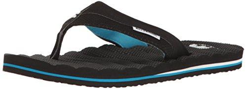 Billabong Mens Dunes Impact Non Slip Water Resistant Sandal Flip Flop Black/Blue