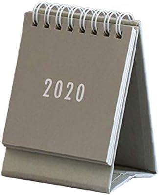Lankater 2020 Mini-Tischkalender Desk Stand Up Kalender Monatsplaner Mit Ringspule Für Studierende Büroarbeiter Use (Gray)