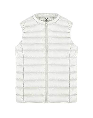 Vest Puffer White Women EKU Packable Jacket Vest Down Lightweight Fcg1qZ
