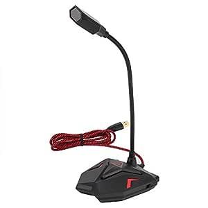 Neufday-G55 Micrófono de Juego competitivo Negro Rojo Micrófono de ...