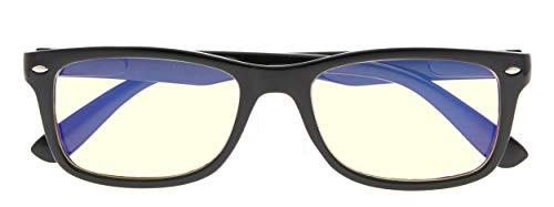 Computer Glasses Blue Light Filter Readers Anti Glare Reading Eyeglasses Women(Black) +1.25