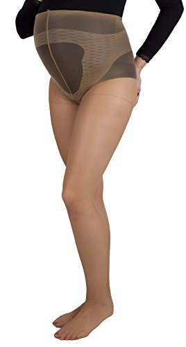 Gatta Maternity Pregnancy modelling tights 20 Den 2352 (US 10, Beige)