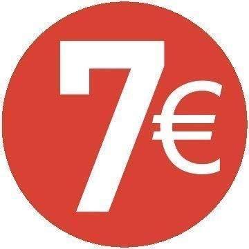 Confezione da 200 Pezzi 20 Diversi Prezzi da Scegliere Tra 8 Euro Rosso 20mm Euro Adesivi Prezzo