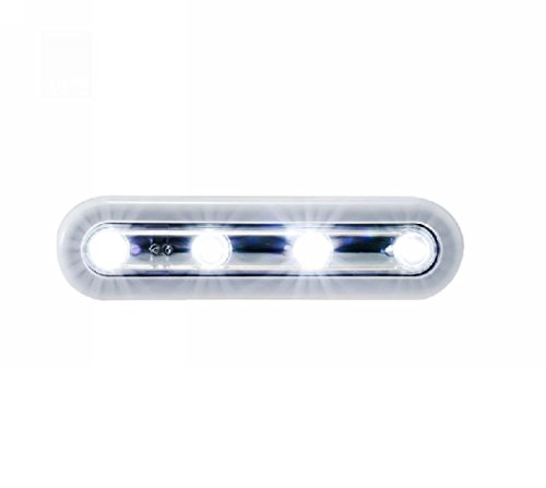 Elecrainbow Battery Operated 4 Led Touch Light For Closet