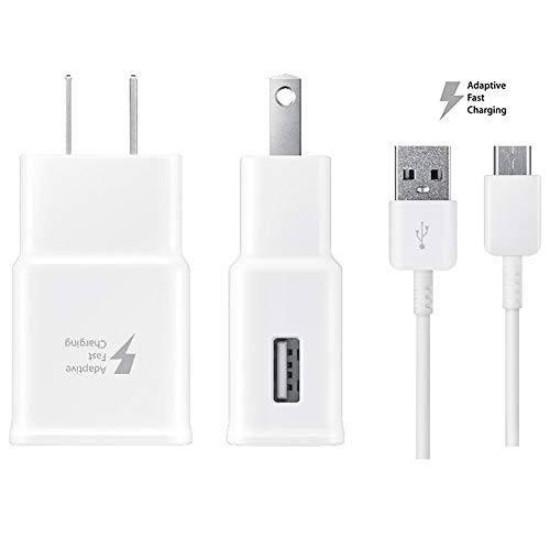 Charger, Samsung Galaxy s7 Charger For Samsung S7 S7 Edge S6 S6 Edge Note5 LG G3 G4,Galaxy Charger Samsung Adaptive Fast Charger Micro USB 2.0 Cable Kit(Fast Wall Charger+Micro Cab ()