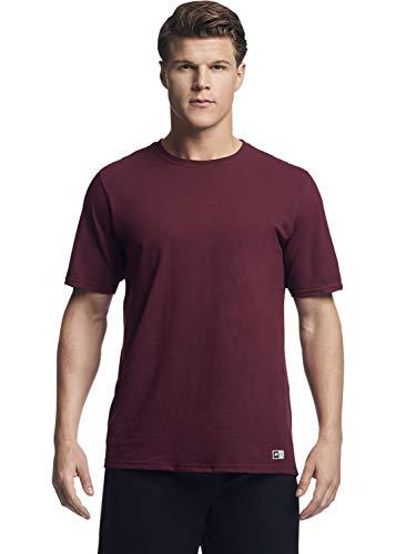 Maroon Short Sleeve Tee - Russell Athletic Men's Essential Short Sleeve Tee, Maroon, 3XL