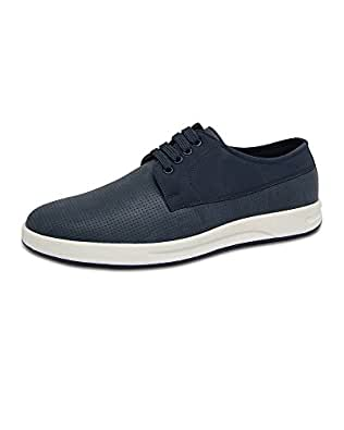 Marc Loire Men Casual Lace-Up Shoes, Faux Leather Sneakers - Blue, Size - Euro41_UK/IN7 - ML0075130341