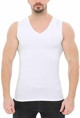 b89949e50ecbb FEDULK Men s Solid Vest Fashionable Sports Tank Tops Gym Running Fitness  Workout Body Shaper Blouse