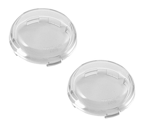 Chris Products DHD5S Deuce-Style Replacement CLEAR Turn Signal Lens For Harley-Davidson 2-Pack (Turn Signals New Clear Lense)