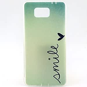 ZXC Smile Pattern TPU Soft Cover for Galaxy Alpha G850