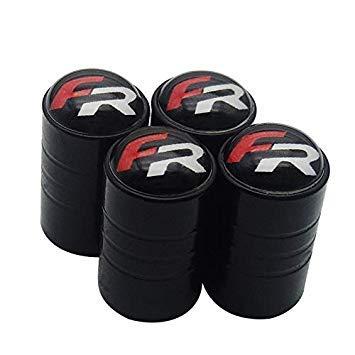 Sellify Car Wheel valves de pneus de pneus Air Caps Case pour Seat Ibiza FR Leon Altea Exeo Formula Racing 4pcs Nom Couleur: Noir Lot de Voiture Styling