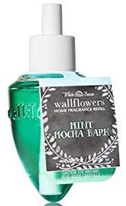 Lot of 4 Bath & Body Works Mint Mocha Bark Wallflower Home Fragrance Refill Bulbs