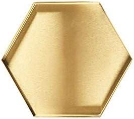 Batreetek 金属製収納トレイ ステンレス 鏡面加工 ジュエリーディスプレイ アクセサリー 小物収納 置き ゴールド コイ