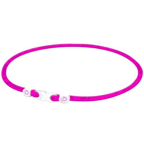Phiten Aqua Titanium Necklace - Phiten Titanium Necklace - Pink - 18