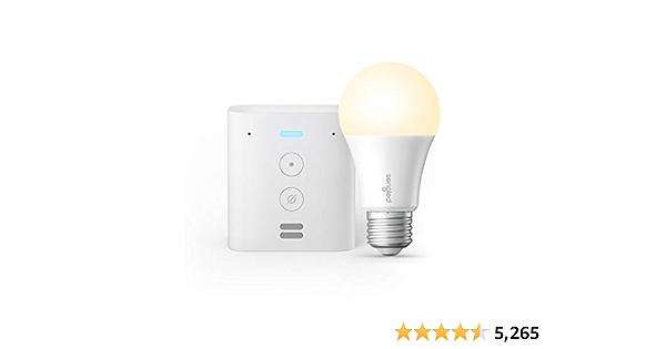 Echo Flex - Plug-in mini smart speaker with Alexa Sengled Bluetooth bulb