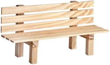 Banco de jardín en miniatura de madera, 9 x 3 x 4,5 cm, decoración, paisaje, muñecas, banco natural: Amazon.es: Hogar