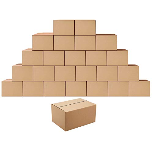 Shipping Boxes Mailers 8x6x4 inches Corrugated Cardboard Small Packing Kraft Moving Storage Mailing Box, Pack of