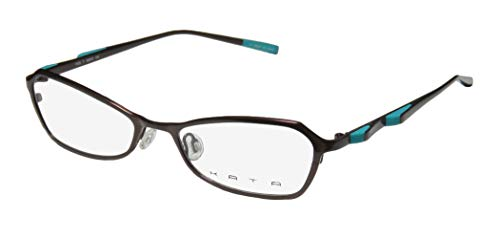 Kata Peel 1 For Ladies/Women Designer Full-Rim Shape Titanium Authentic Made In Japan Eyeglasses/Eyewear (50-17-135, Brown/Turquoise) (Brillen Made In Japan)