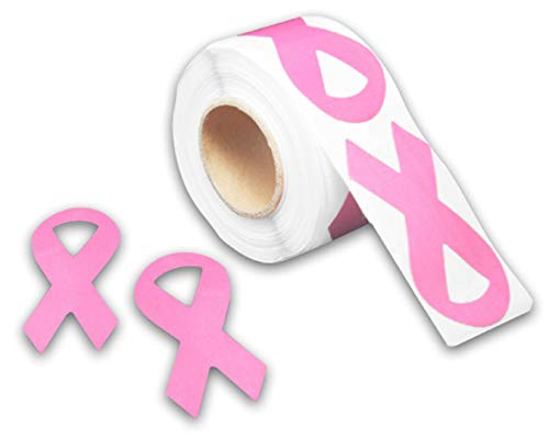 Breast Cancer Awareness Pink Ribbon Stickers (1 Roll)