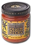Desert Pepper, Mango Peach Salsa-Medium, 16 Ounce Jar