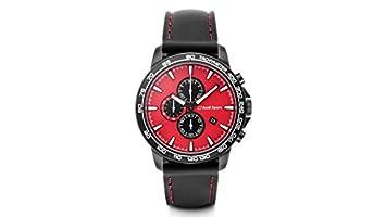 Audi 3101700400 Original Reloj de Pulsera para Hombre con cronógrafo Deporte, Rojo/Negro