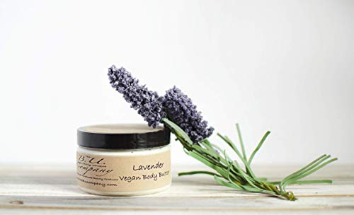 Lavender Vegan Body Butter - All Natural Handmade - VEGAN - BU Company - 8 oz