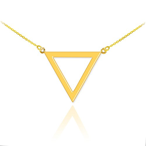 Geometric Pendant Inverted Triangle Necklace