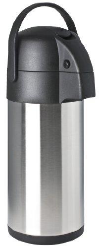 Focus Foodservice 908835LV Stainless Steel Vacuum Insulated Lever Airpot, 3.7-Quart