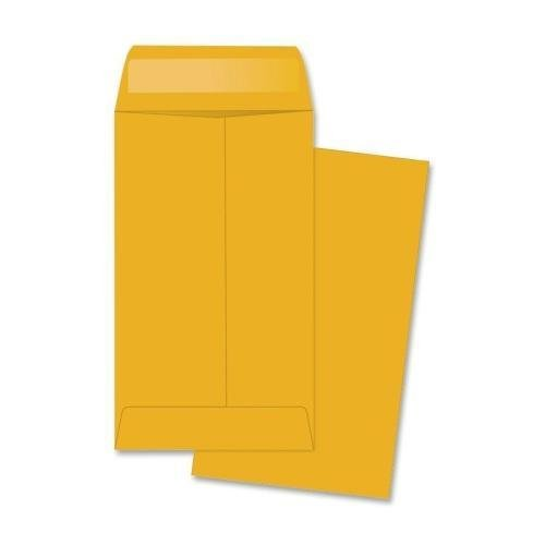 50562 Quality Park Coin/Small Parts Envelope - Coin - #5-1/2 (5.50'' x 3.12'') - 28 lb - Gummed - Kraft - 500/Box - Brown Kraft by Quality Park
