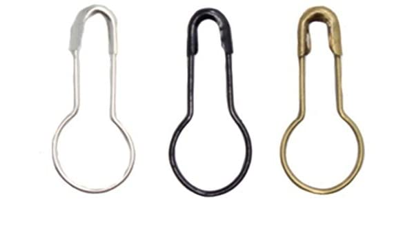 200PCS Small Size 0.8 2cm Mixed Color Metal Safety Pins Bulb Pin Clothing Garment Tag Pins Gourd Pin Trimming Fastener Tool Clip