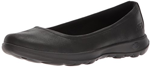 Skechers Performance Women's Go Walk Lite-15395 Ballet Flat, Black, 10 M US by Skechers (Image #9)