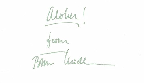 Bette Midler Signed - Autographed 3x5 inch Index Card with ALOHA! From inscription - Legendary Actress and Singer - Guaranteed to pass PSA/DNA or JSA (Autographed Signed 3x5 Index Card)