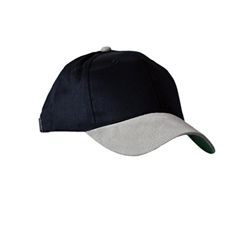 KC Caps Unisex Two-Tone Cotton Twill Baseball Cap with Suede Bill