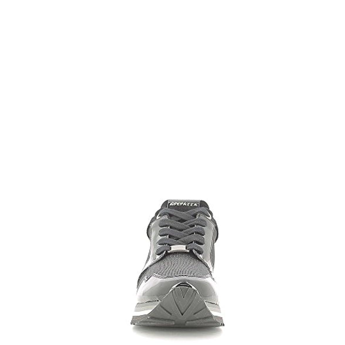 Apepazza Rihanna Metal Fabric Rsd01 Sneaker Vernice camoscio Zeppa Interna Nero