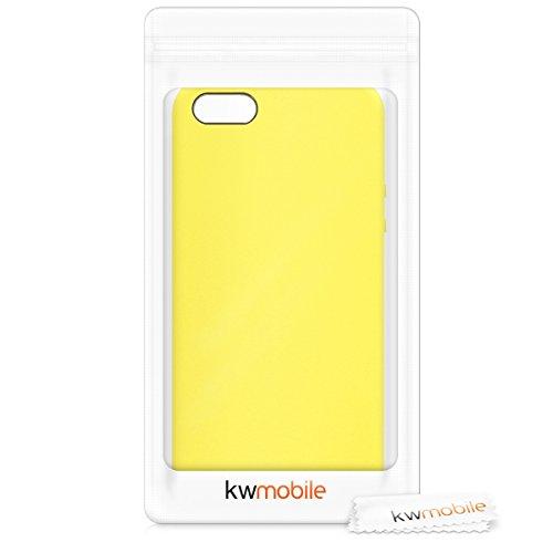 kwmobile Funda para Apple iPhone SE / 5 / 5S - Case para móvil de TPU Silicona - Cover Trasero en Amarillo neón