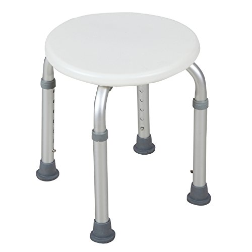 WaaGee Bath Tub Shower Chair Seat Bench Stool for ,Round (Bench Stools And Chairs)