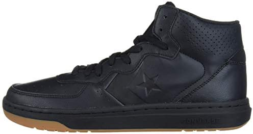 Converse Rival Leather Mid Top Sneaker, BlackGum Honey, 3 M