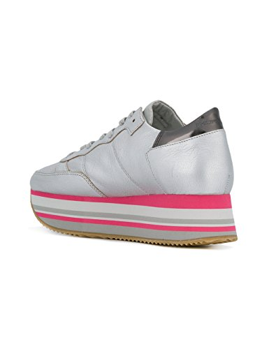 Philippe Women's EILDMM02 Leather Model Sneakers Silver 6a6nfrWq