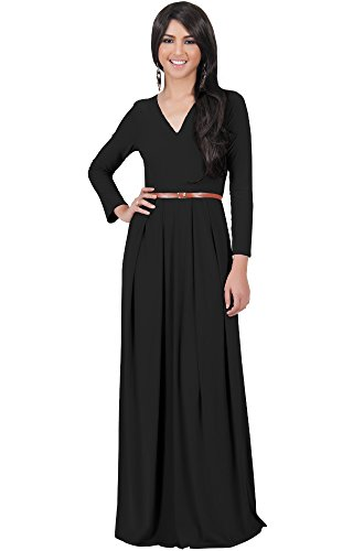 long black matte jersey dress - 9
