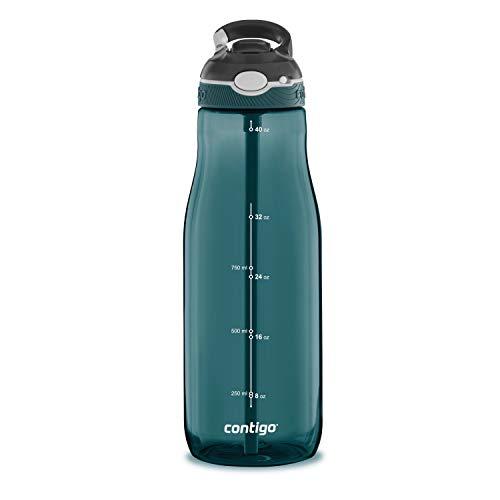 Contigo 2063290 Ashland Water Bottle, 40 oz, Chard