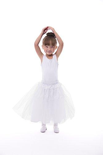 (Little Adventures Girls Deluxe Fullness Costume Slip (Small Age 1-3) White)