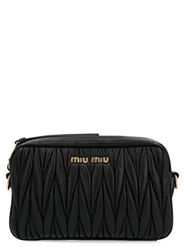 Miu Miu Women's 5Bh118oomn88f0002 Black Leather Clutch ()