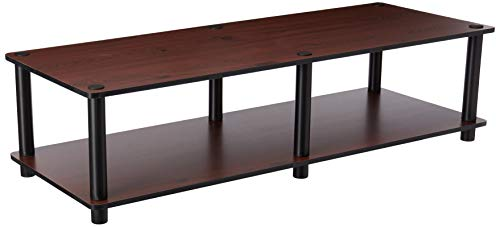 Furinno 11175DC(BK)/BK Just No Tools Dark Cherry Wide Television Stand with Black Tube -