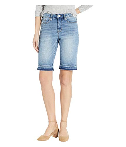 Tribal Women's Distressed Short with Roll Cuff, Blueglow, 6